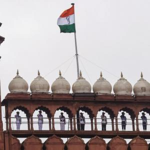 Socially distanced I-Day celebrations during COVID-19