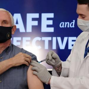 US VP Mike Pence receives COVID-19 vaccine on camera