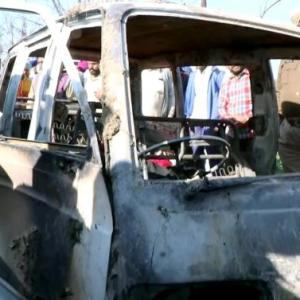 Punjab: 4 kids charred as school van catches fire