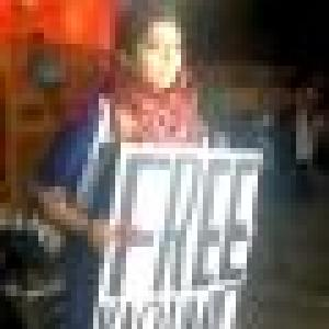 Why did woman hold Free Kashmir poster? She explains