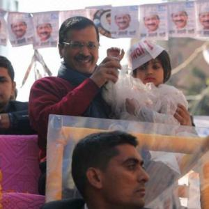 'Lage Raho Kejriwal' rings out in northwest Delhi