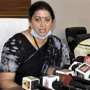Smriti terms Rahul's Hathras visit as political move