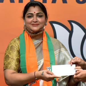 Want to give a befitting reply to Cong: Khushbu