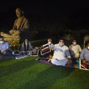 With pillows, MPs up for night-long protest in Parl