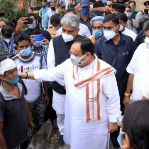Nadda visits Bengal, compares violence to Partition