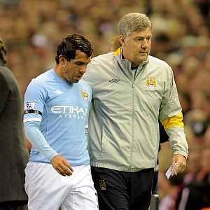 Injured Tevez set to miss FA Cup semi-final