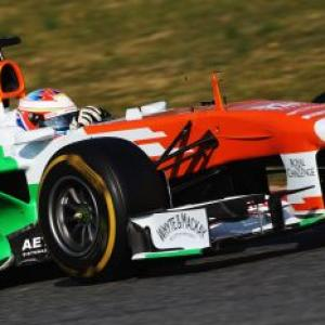Force India collect tyre information on day 2 of testing