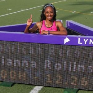Rollins equals fourth-fastest hurdles time