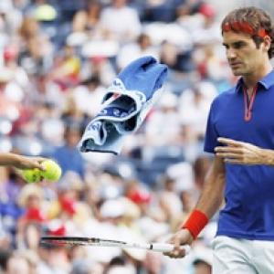 Federer and Nadal win, Ferrer bows out