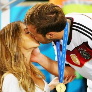 PHOTOS: How Germany WAGs congratulated their men...