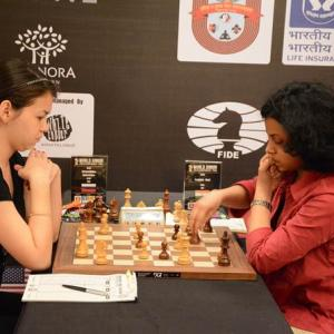 World Jr Chess: Rout's winning run halted by top seed Goryachkina