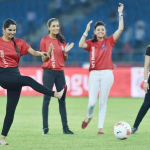 First Look! Sania Mirza scores during ISL