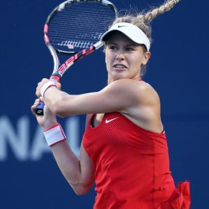 PHOTOS: Eugenie Bouchard 'almost' suspended in the air