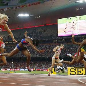 World Athletics PHOTOS: Williams stuns favourites to take hurdles gold