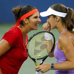 PHOTOS: Sania-Hingis storm into US Open final