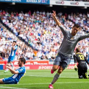 Five-goal Ronaldo becomes record Real scorer in La Liga