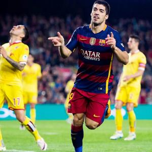 Footballers of the weekend: Suarez shines in Europe