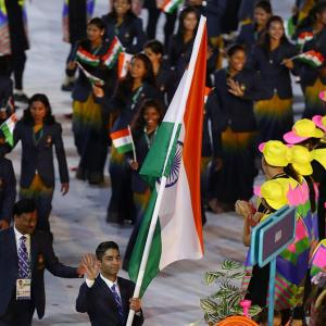 First Look: Bindra leads India at Parade of Nations in Rio