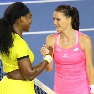 Serena demolishes Radwanska to make seventh Australian Open final