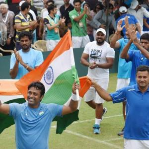 Davis Cup: Paes, Bopanna seal play-off place with easy win