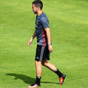 Euro 2016: Hazard limps out of training session