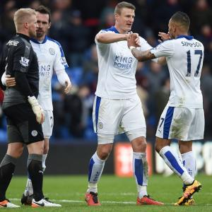 EPL PHOTOS: Leicester surge on towards title; Chelsea halt West Ham