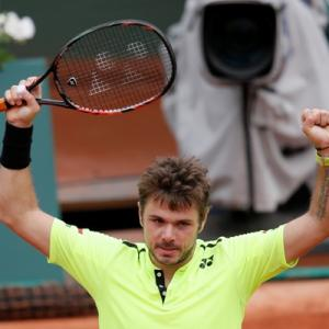FRENCH OPEN PHOTOS: Wawrinka survives Rosol scare