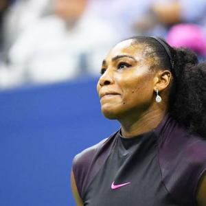 PHOTOS: When Serena was hit by a double whammy