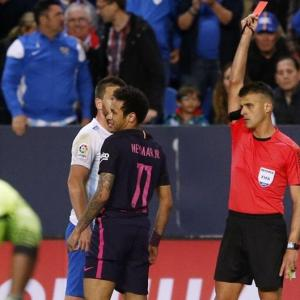 Barca's Neymar to miss Clasico after receiving three-match ban