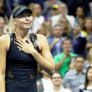 Proud Maria grabs spotlight in Big Apple after humbling Halep