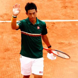 French Open: Nishikori survives two-set-blackout to win all-Asian battle