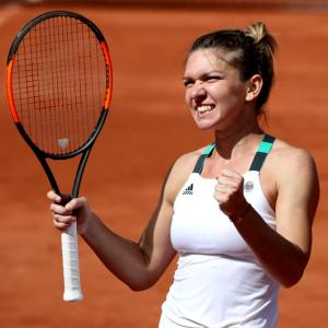 Halep roars back to reach semis, Pliskova ends French presence