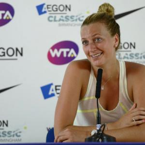 Kvitova plays down favourite tag at Wimbledon