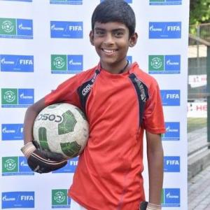 The 12-year-old goalie who will represent India