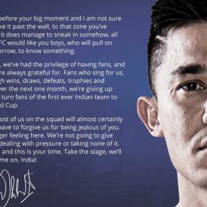 Big Brother Chhetri to U-17s: Forgive us for being jealous!