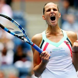 US Open PIX: Pliskova survives scare, Thiem eases through