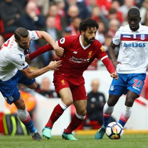 EPL PIX: Liverpool frustrated as battling Stoke grab a point