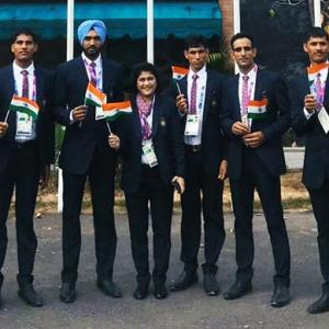 Indian flag hoisted at Asian Games Village on Independence Day