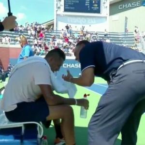 USTA plays down controversy after Kyrgios gets 'pep talk' from umpire