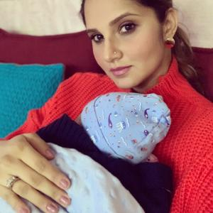 Sania Mirza cuddles with baby Izhaan