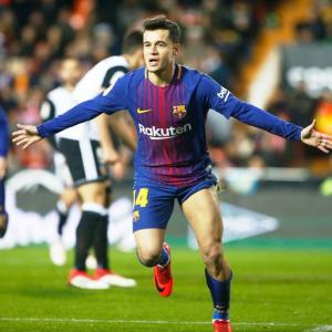 Football: Coutinho scores first Barca goal to put club in Copa final