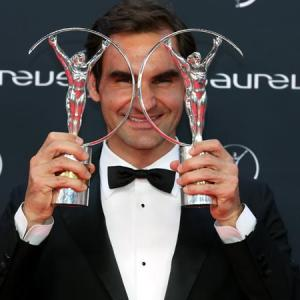 PHOTOS: Grand double for Federer at Laureus Awards