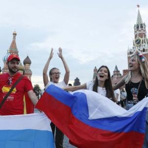 PICS: Russia parties as Spain shoot-out win keeps World Cup dream alive