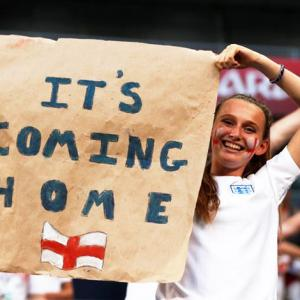 Optimistic media celebrate England's World Cup semi-final spot