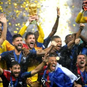 PHOTOS: France overpower Croatia to win second World Cup