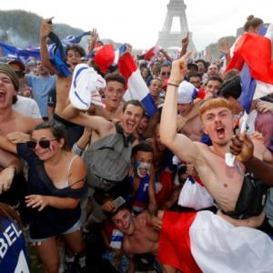 PIX: France fans go wild from Paris to Moscow after World Cup win