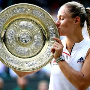 PHOTOS: Kerber stuns Serena to win Wimbledon title