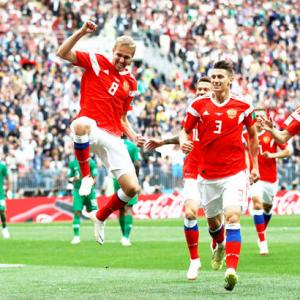PHOTOS: Rampant Russia pummel Saudis 5-0 in World Cup opener