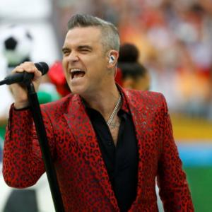 Was Robbie Williams' gesture at World Cup rude?