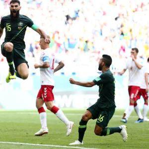 World Cup PIX: Australia keep campaign alive with draw against Denmark